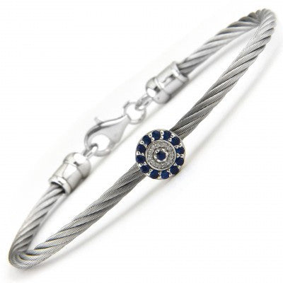 Stainless Evil Eye Bangle