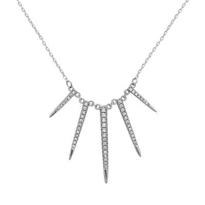 Sterling Silver Spike Necklace