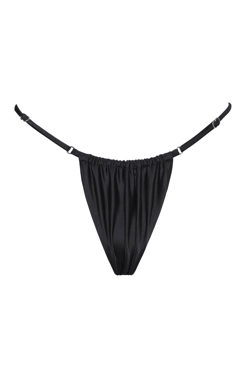 Black Brazilian String Bikini Bottoms