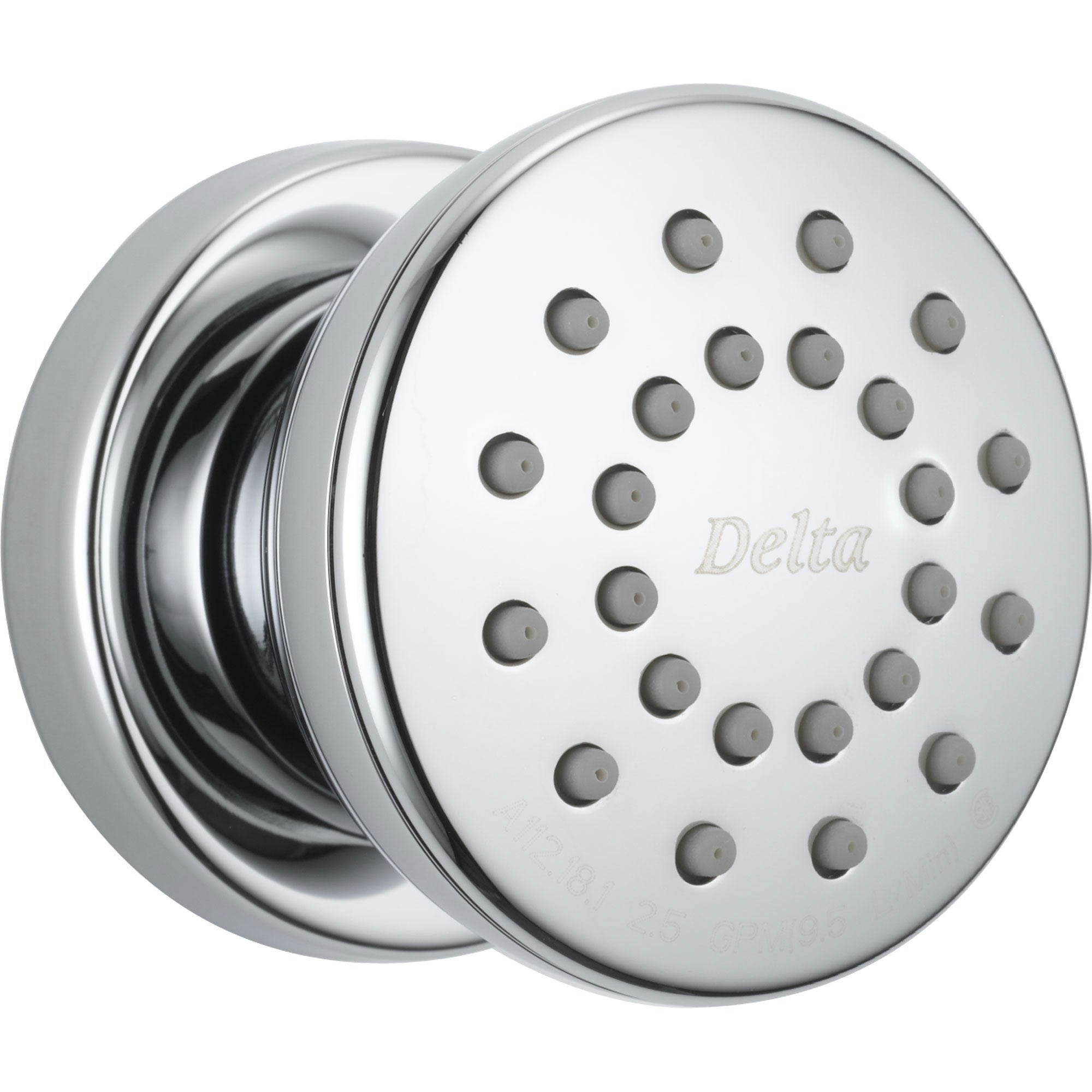 Delta Classic Round Shower Body Jet in Chrome featuring H2Okinetic 608651