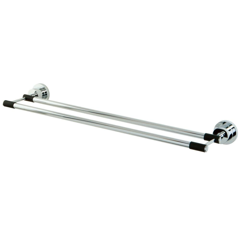 "Bathroom Accessories Chrome 24"" Double Towel Bar Dual Towel Rack BA8213CDKL"