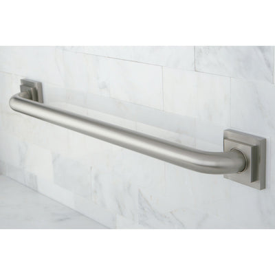 "Kingston Grab Bars - Satin Nickel Claremont 24"" Decorative Grab Bar DR614248"