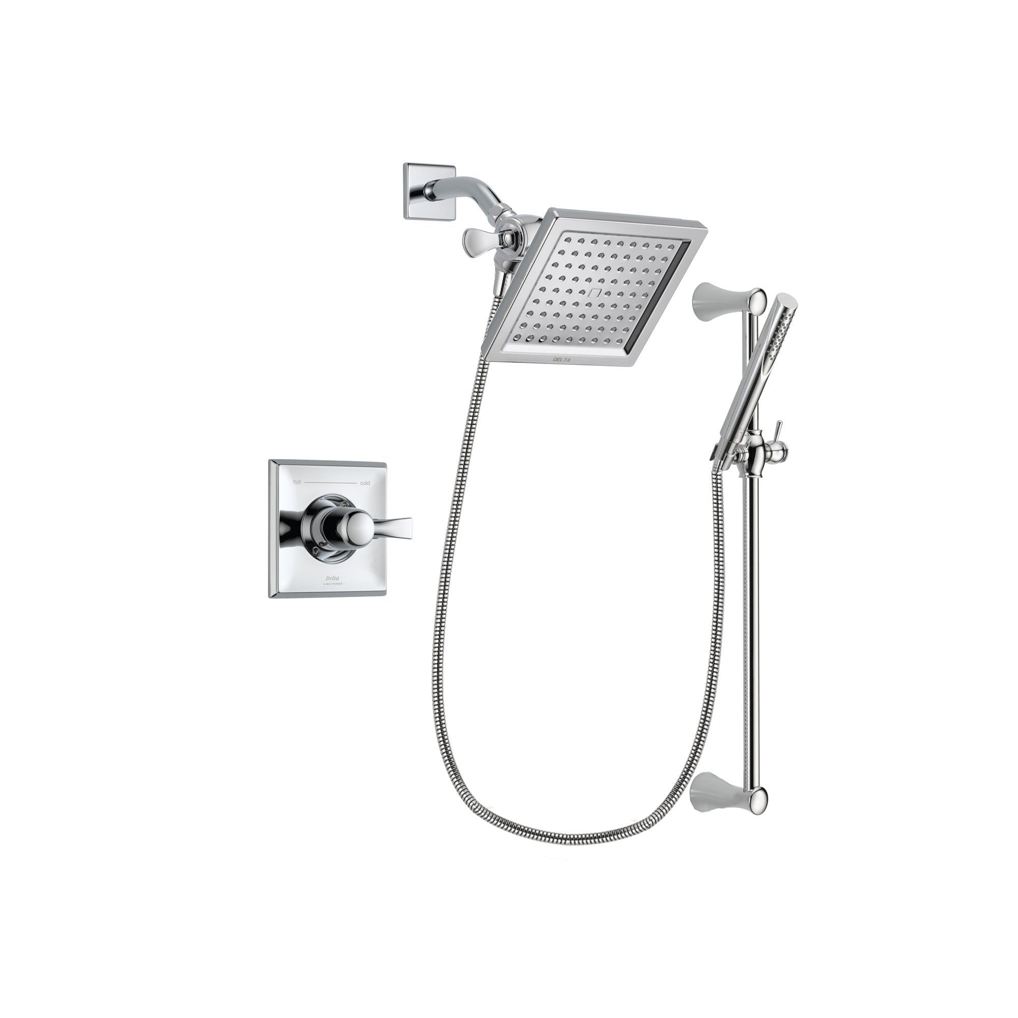 Delta Dryden Chrome Shower Faucet System with Shower Head & Hand Shower DSP0264V