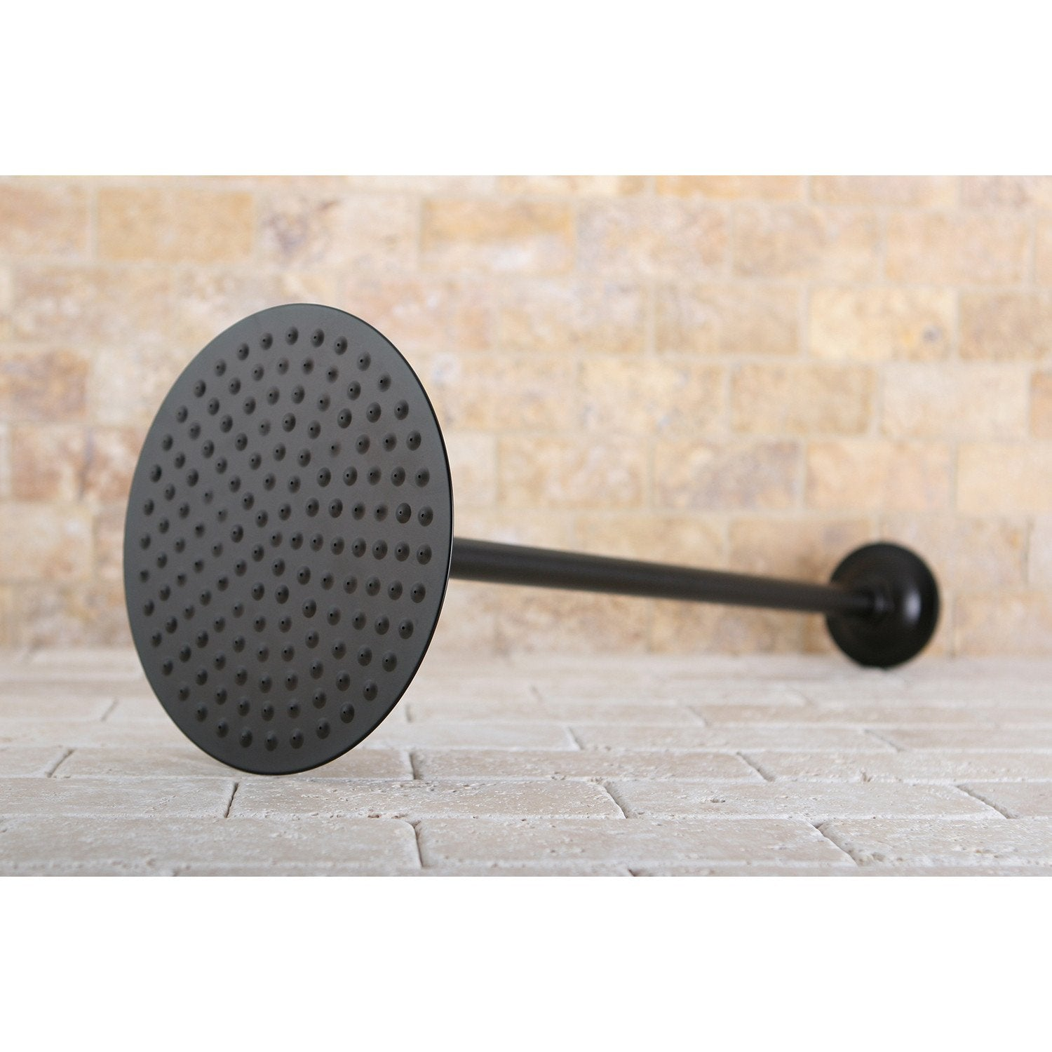 "Oil Rubbed Bronze Large 8"" Rain drop Shower Head with Shower arm K236K25"