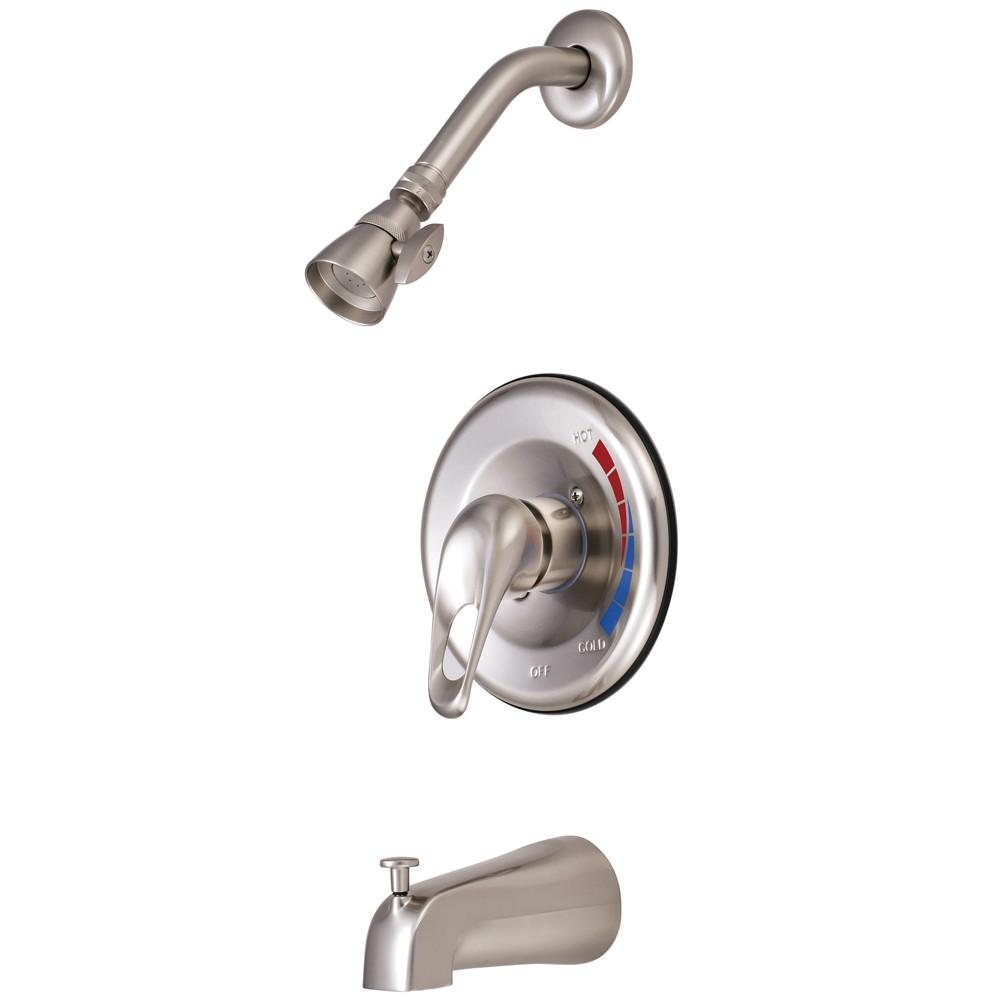 Kingston Brass Satin Nickel Single Handle Tub & Shower Combination Faucet KB698