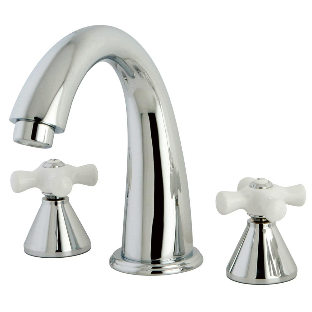 Kingston Brass Chrome Naples Two Handle Roman Tub Filler Faucet KS2361PX