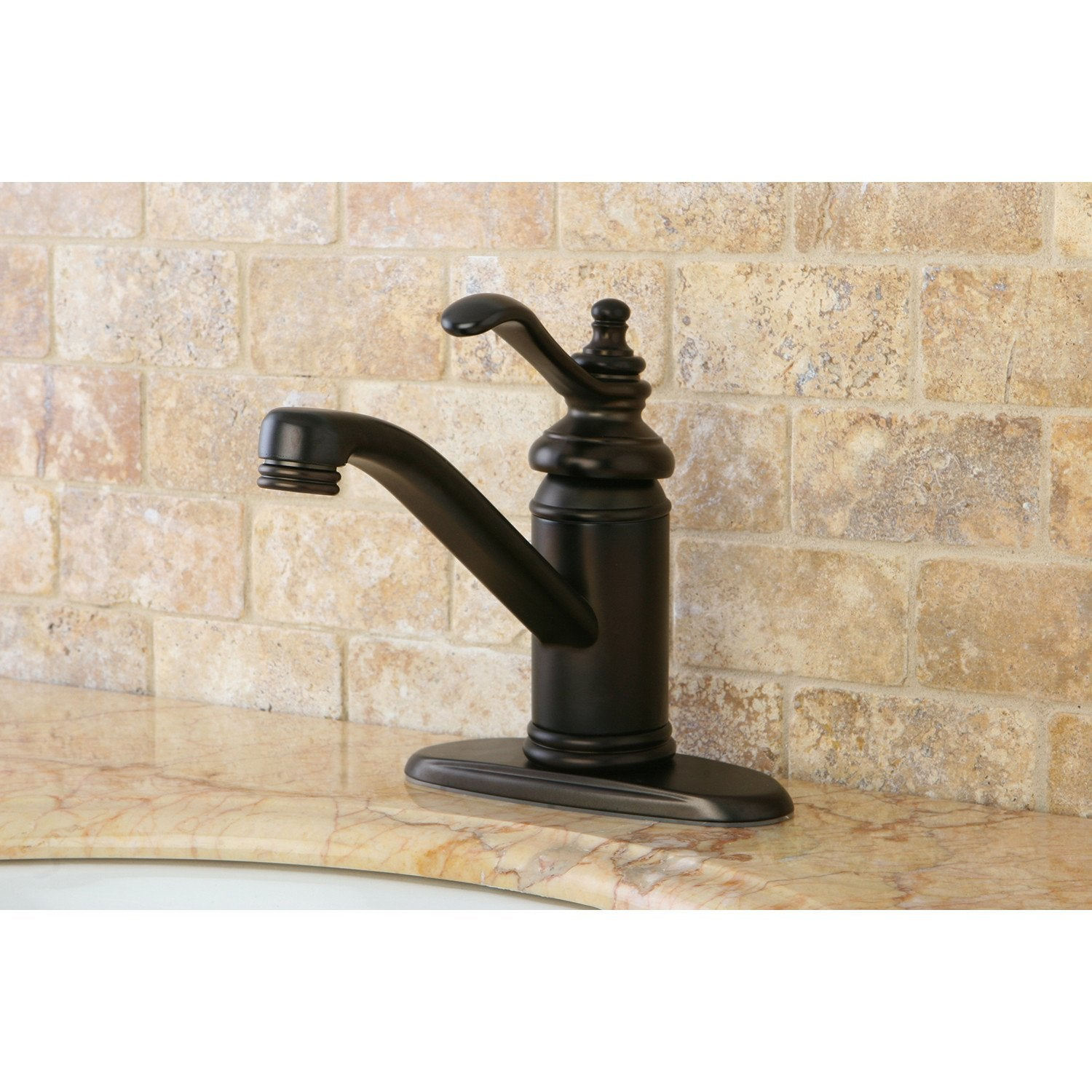 Oil Rubbed Bronze Templeton Single Handle Bathroom Faucet W/Push Drain KS3405TL
