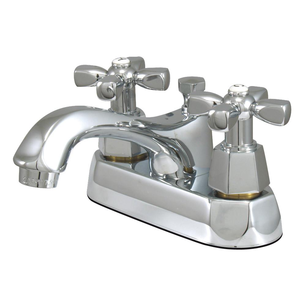 "Kingston Brass Chrome 2 Handle 4"" Centerset Bathroom Faucet w Pop-up KS4261HX"