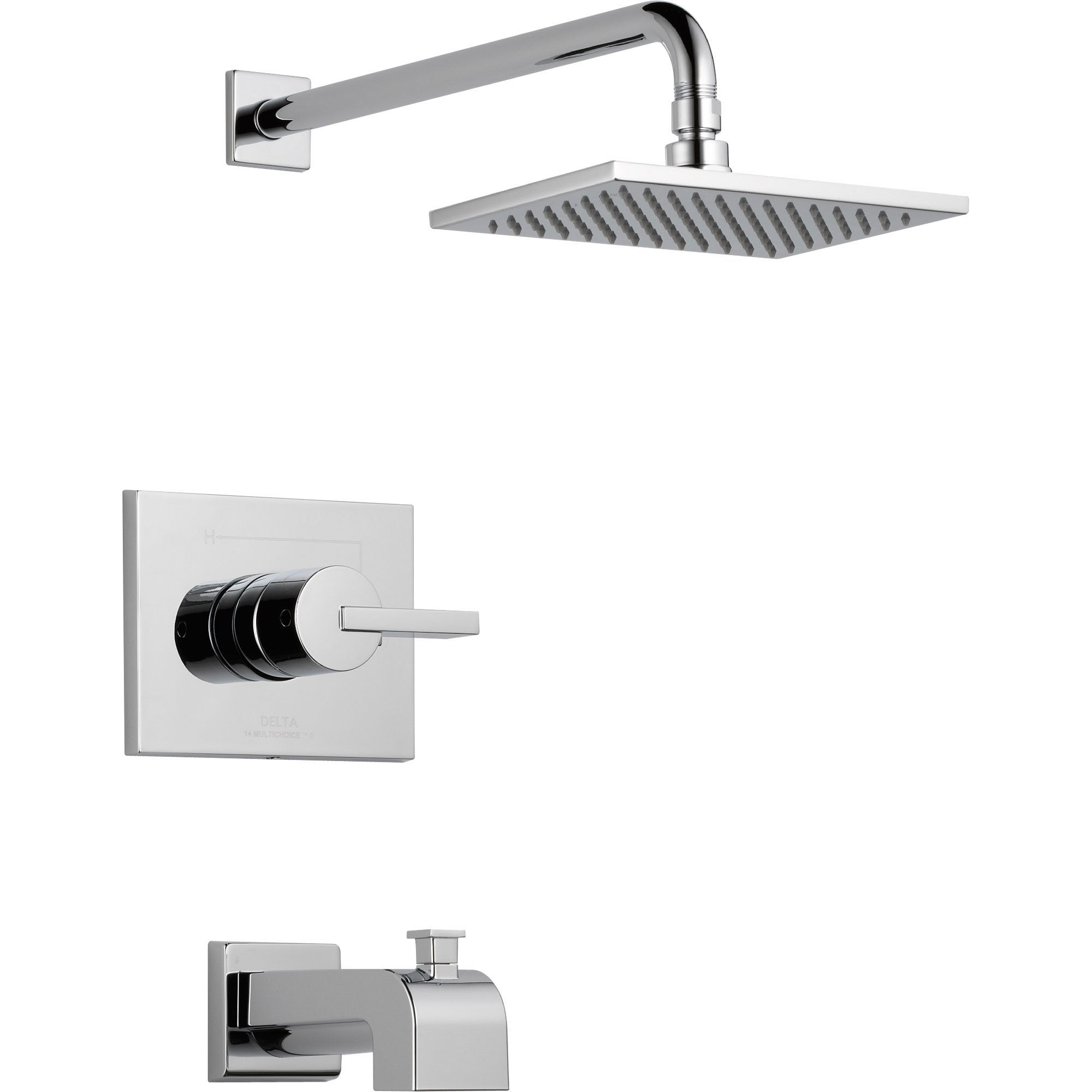 Delta Vero Modern Tub and Shower Combination Faucet Trim Kit in Chrome 521926