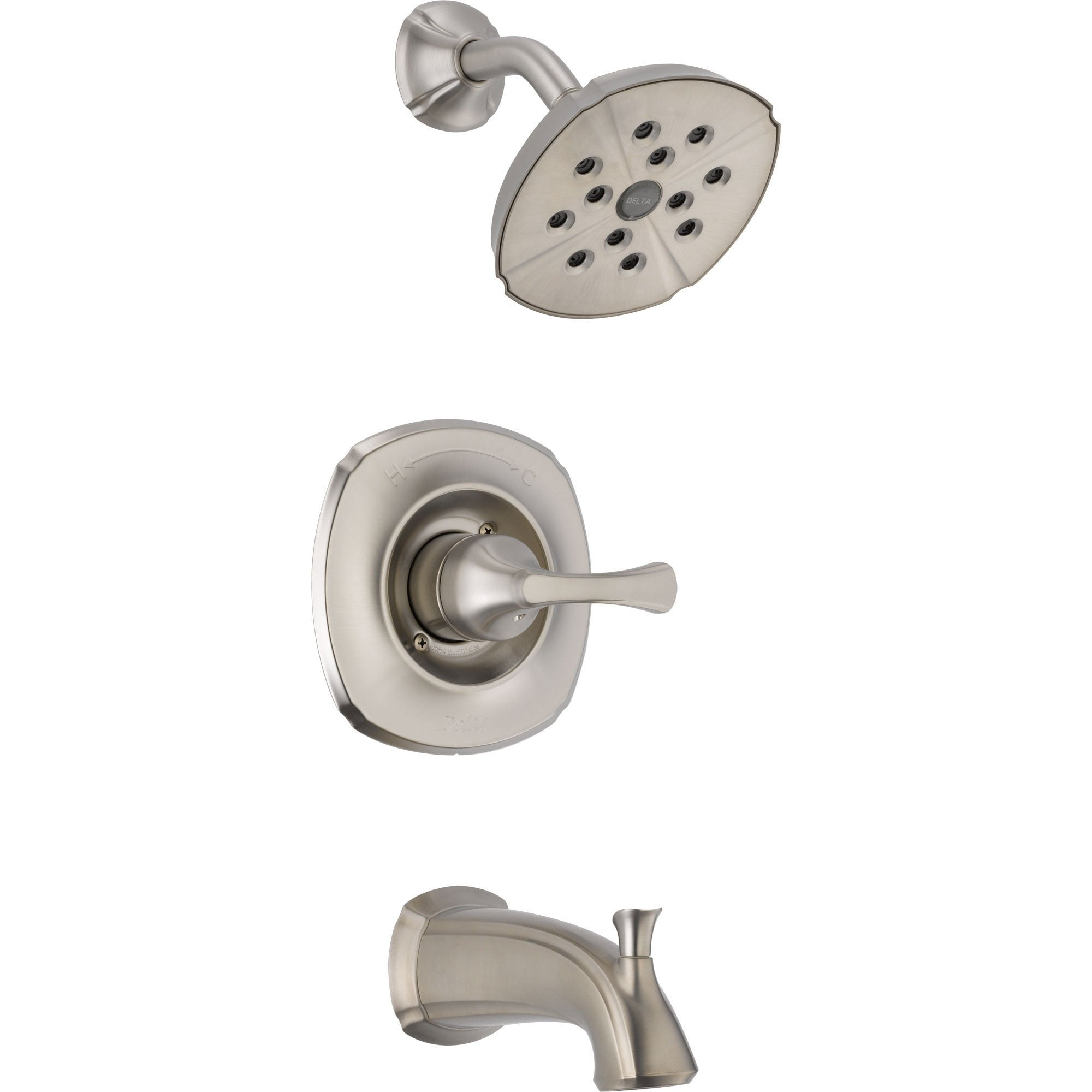 Delta Addison Stainless Steel Finish Tub and Shower Faucet Trim Kit 476406