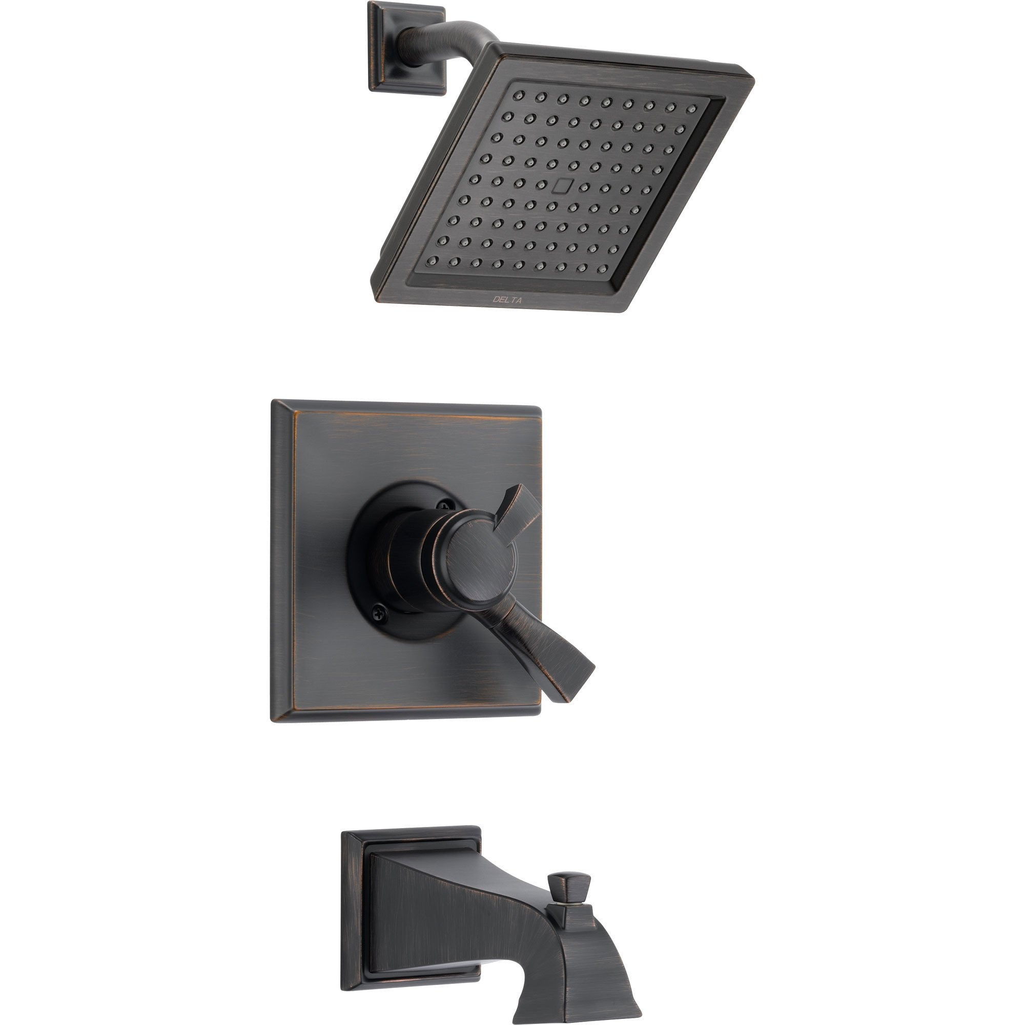 Delta Dryden Temp/Volume Venetian Bronze Tub & Shower Faucet with Valve D374V