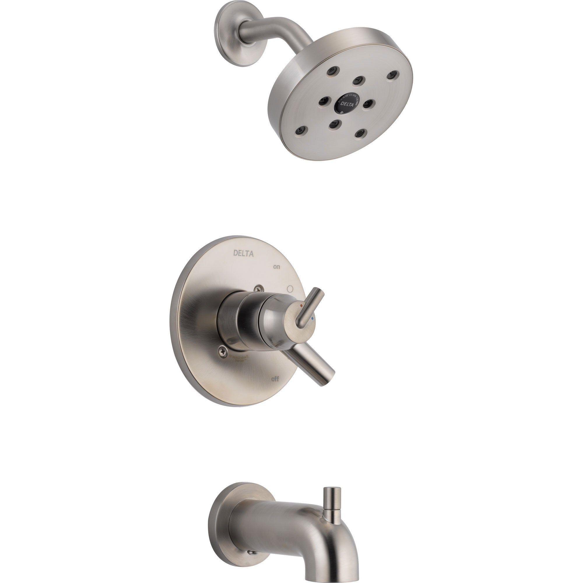 Delta Trinsic Stainless Steel Finish Modern Tub & Shower Combo with Valve D463V