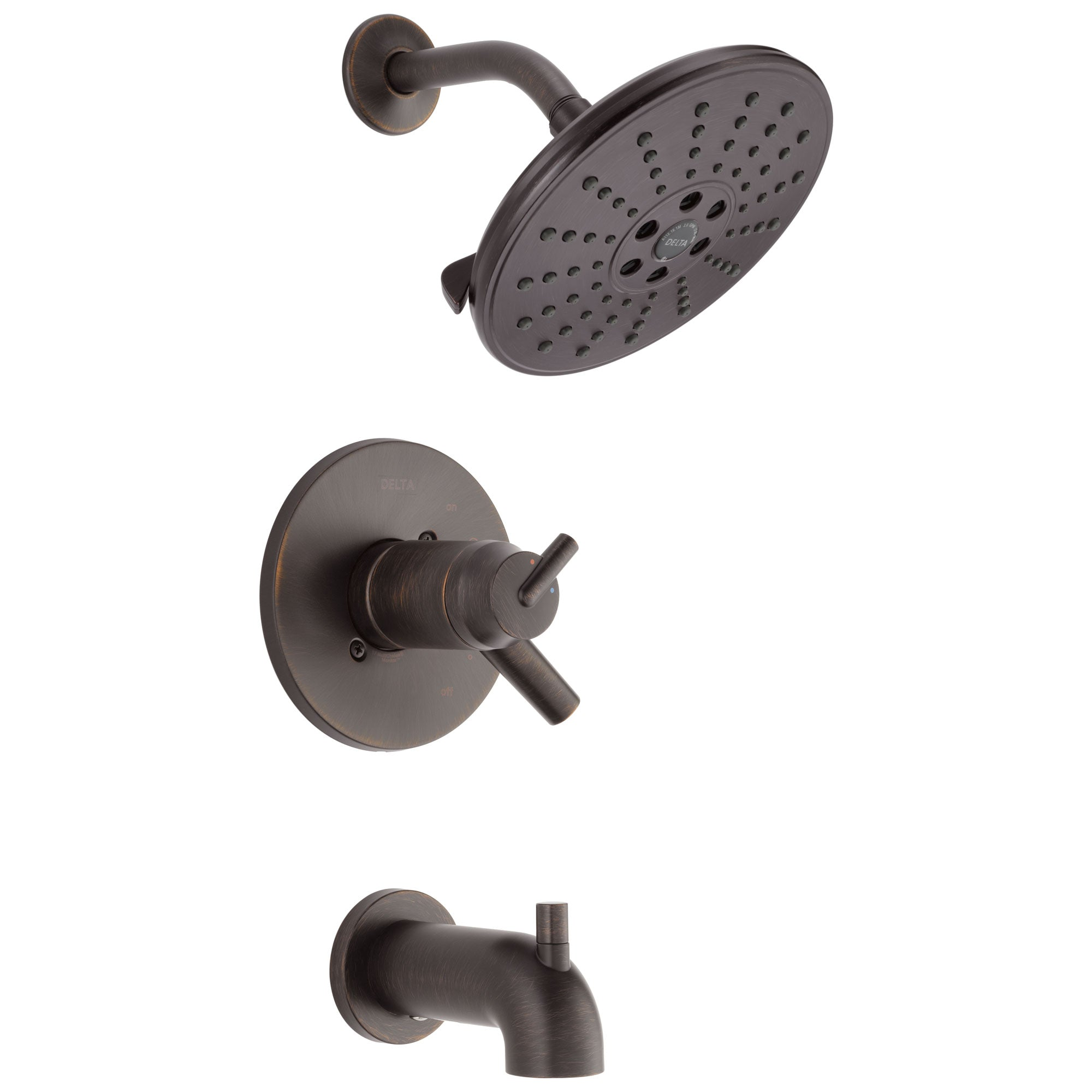 Delta Trinsic Collection Venetian Bronze TempAssure 17T Series Watersense Thermostatic Tub and Shower Combo Faucet Includes Valve without Stops D2231V