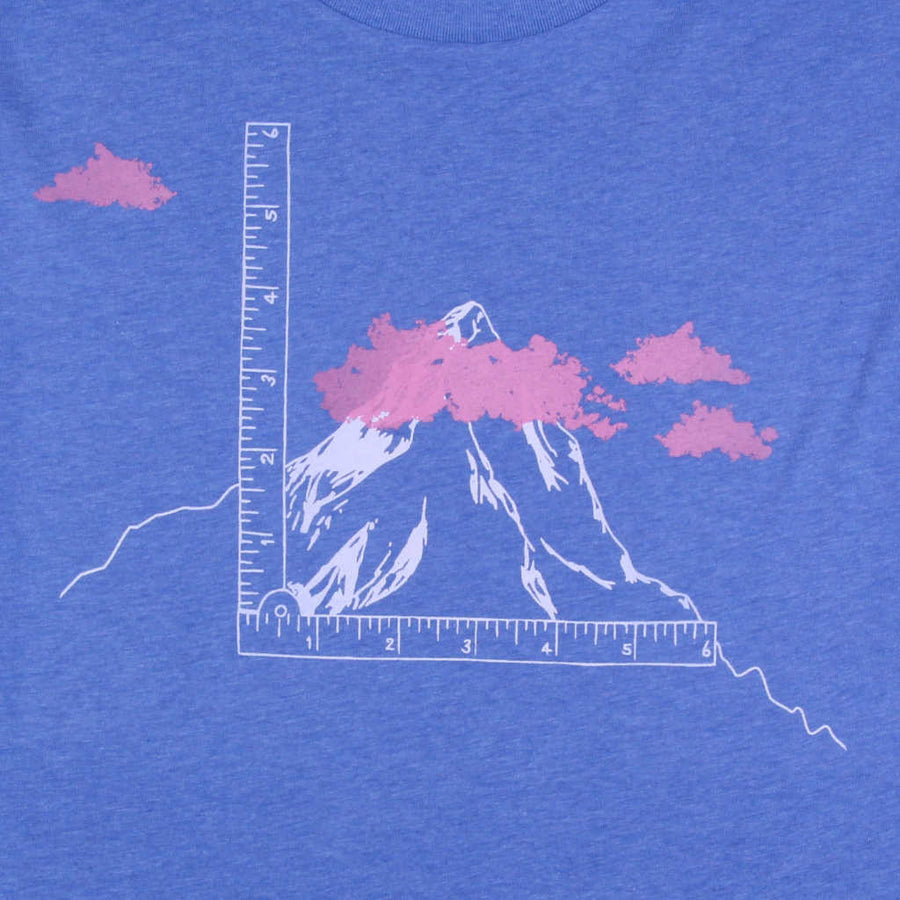 Printed t-shirt mountains design It's not so High