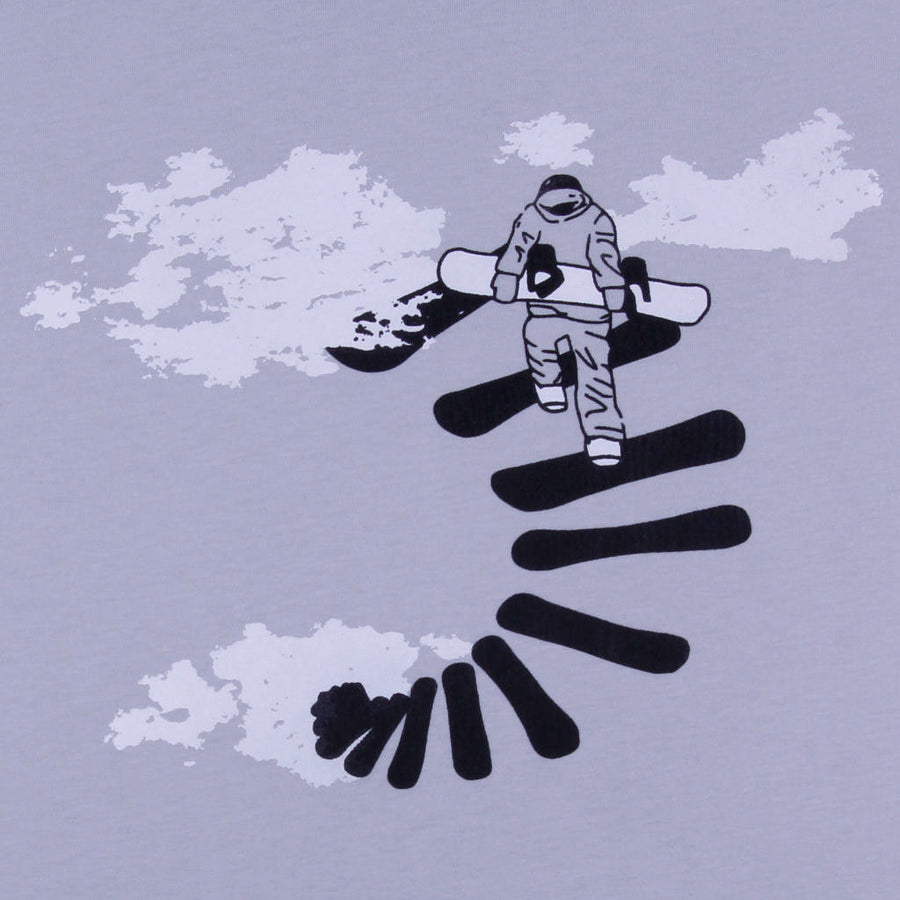 Printed t-shirt snowboarding design Make Your Own Way