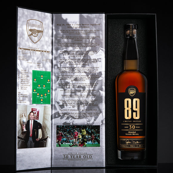 ARSENAL 89 - ANNIVERSARY EDITION 30 YEAR OLD WHISKY - Bohemian Brands