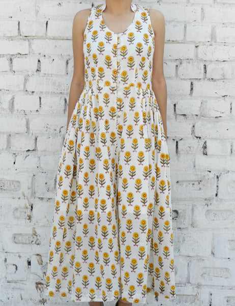 Yellow Sunflower Jumpsuit