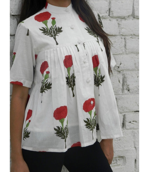 Red Mogra Mini Shirt