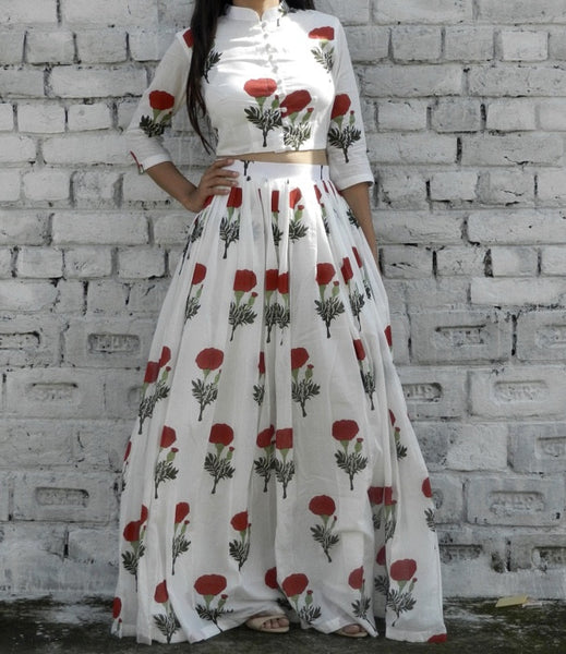 Red Mogra Twin Set
