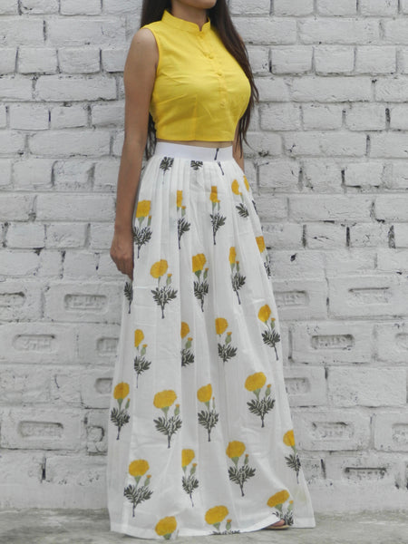Yellow Mogra Twin Set