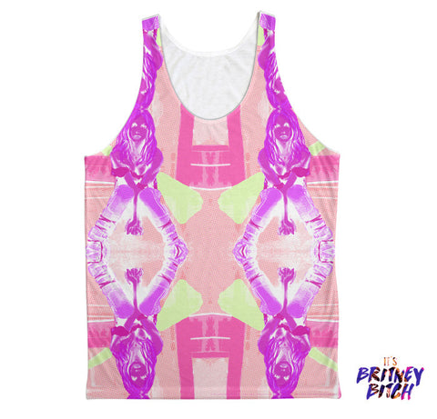 Britney: Overprotected Fashion Tank Fuchsia