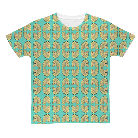 Dolly Mix Rhinestone Aqua Plain - XWayneDidIt Fashion Tee