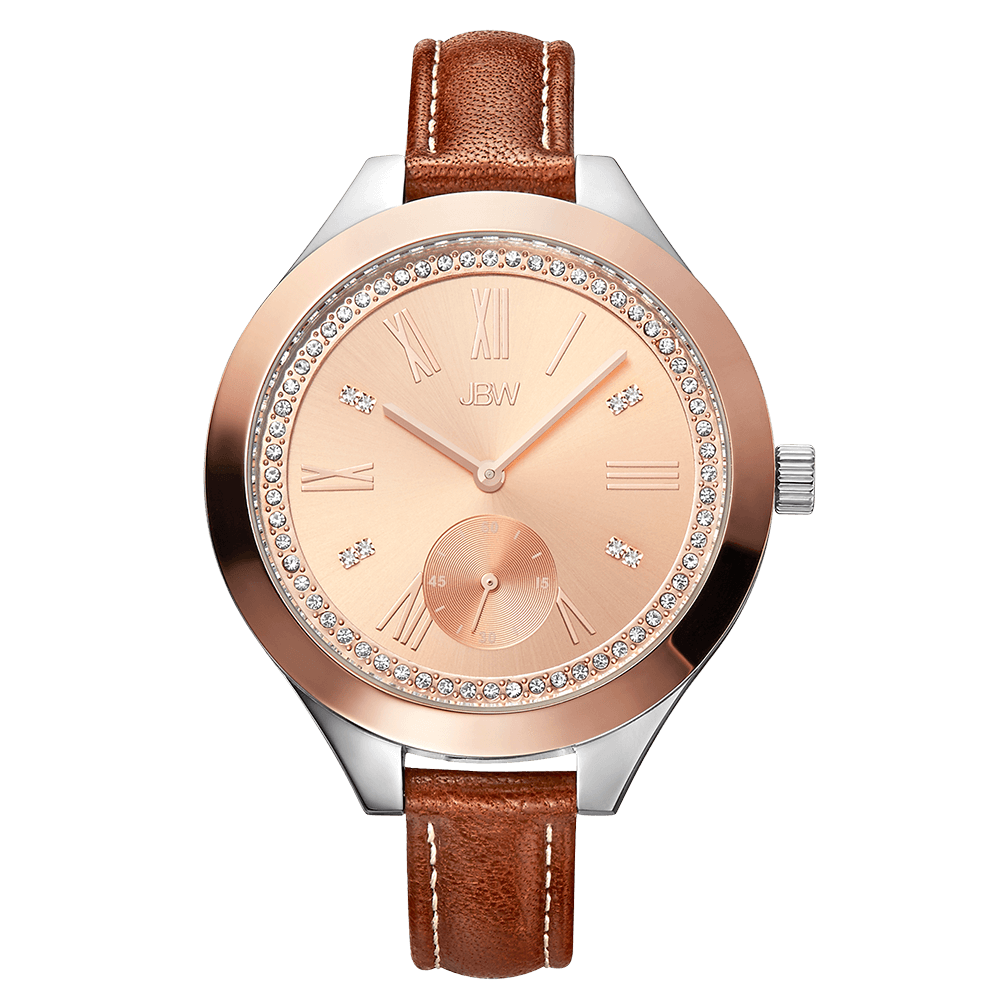jbw-aria-j6309d-two-tone-stainless-steel-rosegold-brown-leather-diamond-watch-front