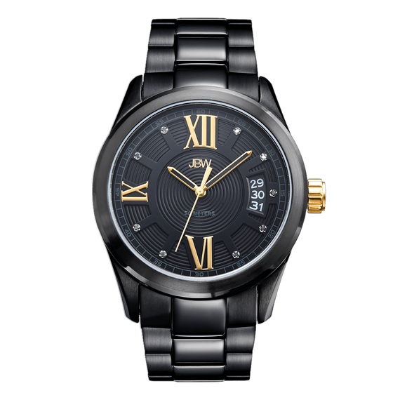 jbw-bond-j6311e-black-ion-gold-diamond-watch-front