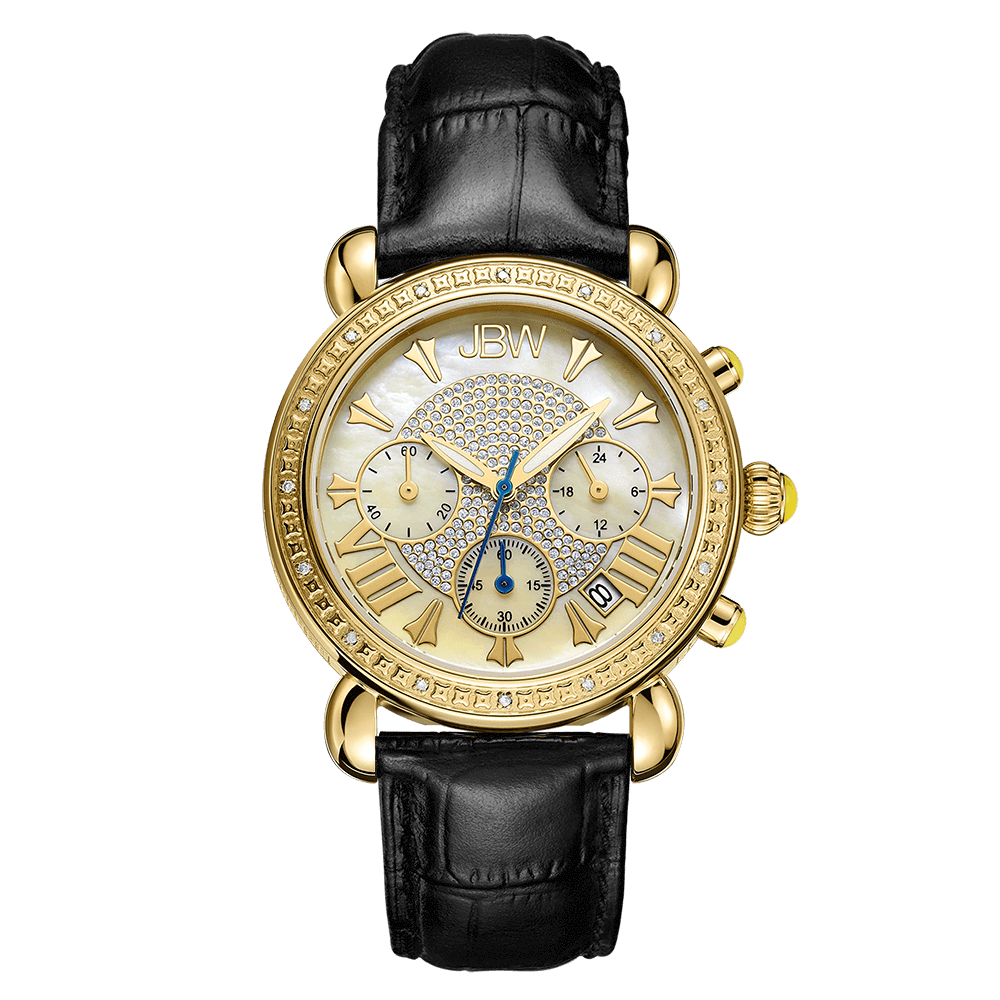 jbw-victory-jb-6210l-a-gold-black-leather-diamond-watch-front