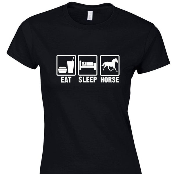 T-Shirt - Marquage Eat Sleep Horse
