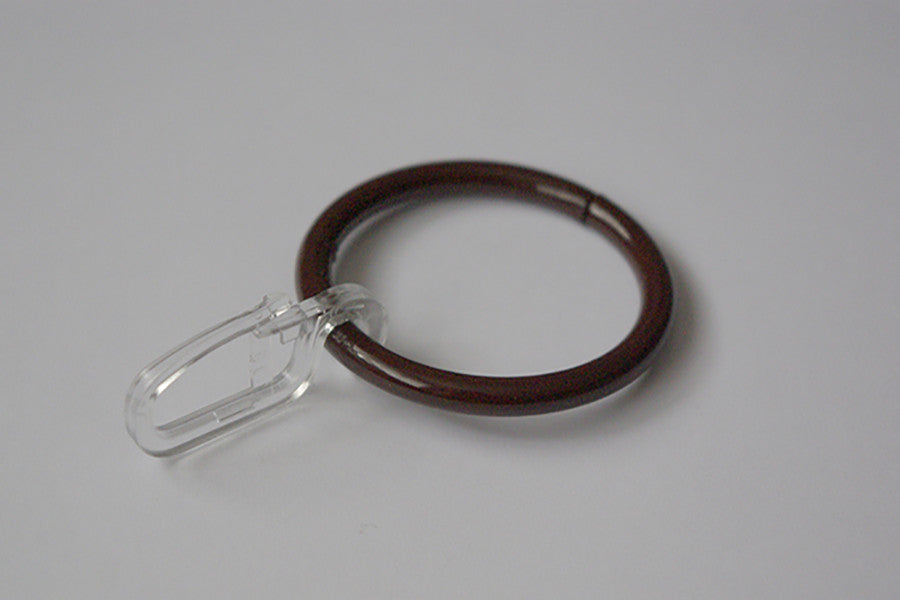 Brown Curtain Ring Hooks Ø30mm (Pack of 10)