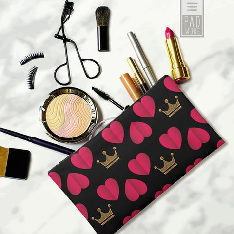 Queen of Hearts Cosmetic Bag