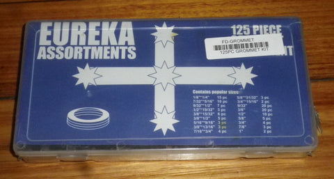 Eureka 125 Piece Assorted Rubber Grommet Kit - Part # FD-GROMMET