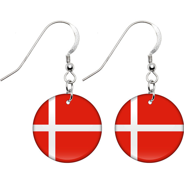 Denmark Flag Earrings