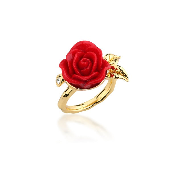 Disney Beauty and the Beast Enchanted Rose Wrap Ring - Disney Jewellery