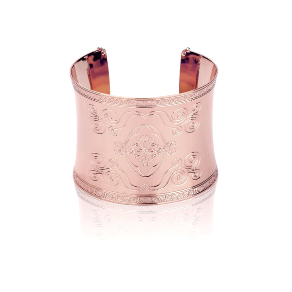Disney-Aladdin-Magic-Carpet-Cuff-bracelet-Rose-Gold-Front-View-Jewellery-by-Couture-Kingdom-DRB550