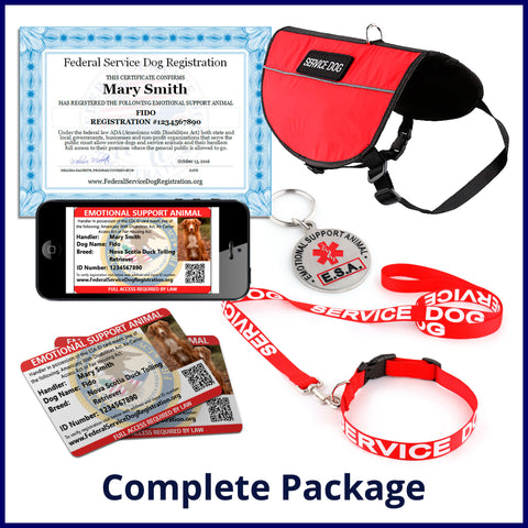 Emotional Support Animal - Complete Package (Bundle and Save $84)
