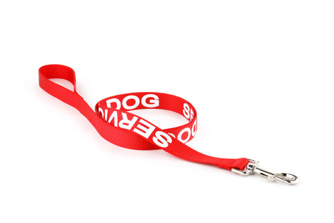 Red Service Dog Leash