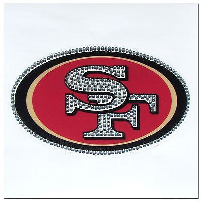 San Francisco 49ers Vinyl Bling Auto Decal (NFL)