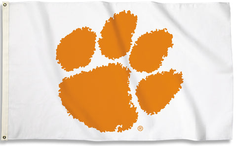 Clemson Tigers 3' x 5' Flag (Logo Only On White) NCAA
