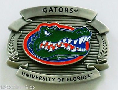 "Florida Gators Over-sized 4"" Pewter Metal Belt Buckle (NCAA)"