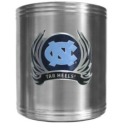 North Carolina Tar Heels Insulated Stainless Steel Can Cooler Coozie (Flames) (NCAA)