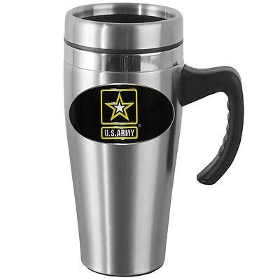 U.S. Army 14 oz Stainless Steel Travel Mug with Handle (Military) Licensed