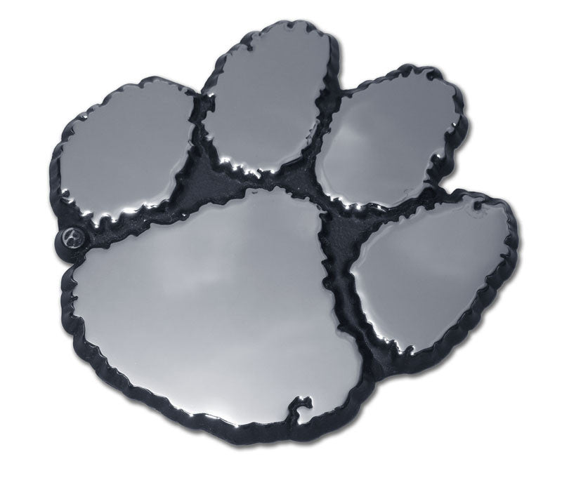 "Clemson Tigers Chrome Metal Auto Emblem (""Paw"") NCAA"