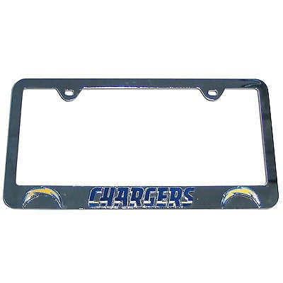 Los Angeles Chargers 3-D Chrome Plated Metal License Tag Frame (NFL)