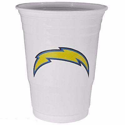 Los Angeles Chargers 18 count 18 oz Disposable Plastic Cups (White) (NFL)