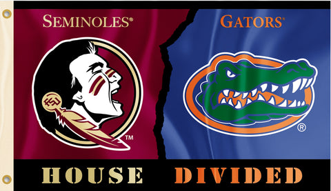 Florida Gators Florida State Seminoles 3' x 5' House Divided Flag NCAA