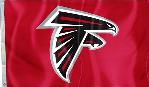 Atlanta Falcons 3' x 5' Flag (Logo Only on Red) NFL