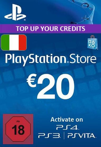 Playstation Network [PSN] | Cash Cards | 20 EURO | Italian - www.15digits.co.uk