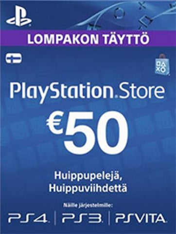 Playstation Network [PSN] | Cash Cards | 50 EURO | Finland